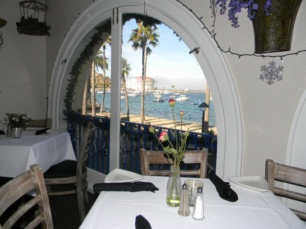 Window View from The Rose Room Steves Steakhouse and Seafood Catalina Island California
