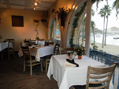 Window view Steves Steakhouse and Seafood Catalina Island